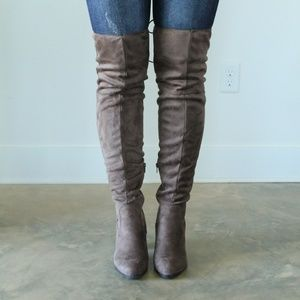 Qupid Over the Knee Booties
